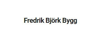 Fredrik Björk Bygg   AB