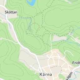kärna karta Gläntanvägen, Kärna karta   hitta.se kärna karta