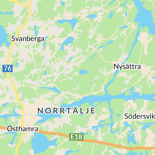 karta över norrtälje med omnejd
