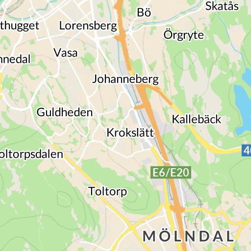 Karta E6 Goteborg.Innerstaden Goteborg Karta Hitta Se
