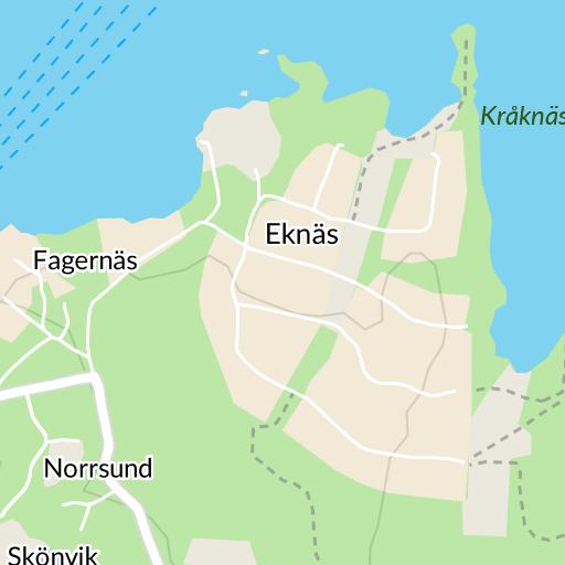 karta över blidö